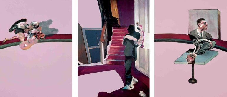 "Francis Bacon, ""Três Estudos de Lucian Freud"""