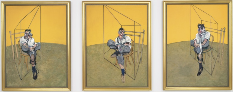 "Francis Bacon, ""Tríptico em memória a George Dyer"" (1971)"