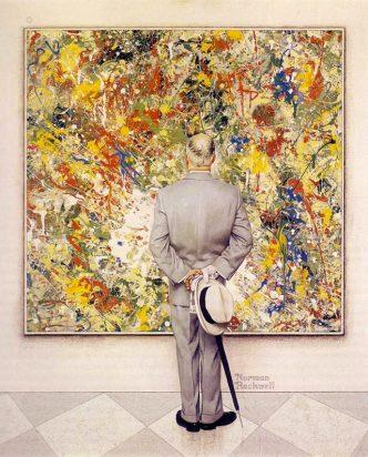 "NORMAN ROCKWELL | ""The The Connoiseur"" (óleo sobre tela, 1962)"