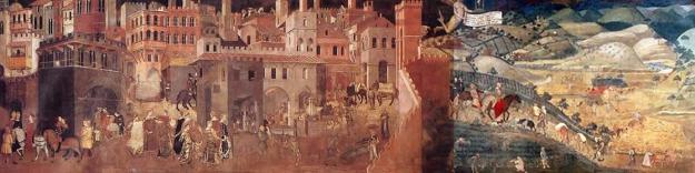 "AMBROGIO LORENZETTI |""O bom e o mau governo da cidade"" (1337/40)."