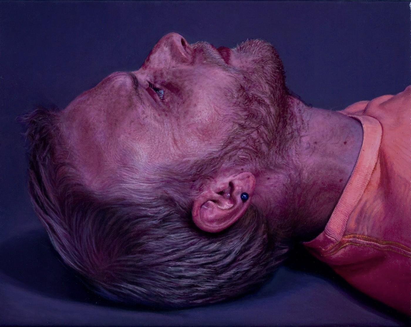 """CRAIG WYLIE, 2011   """"AB(plan or slice)"""" (óleo sobre tela, 24x30.4cm)"""
