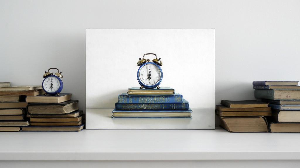 """CHRISTOPHER STOTT   """"Dream Days"""" (óleo sobre tela, 14' x 18')"""