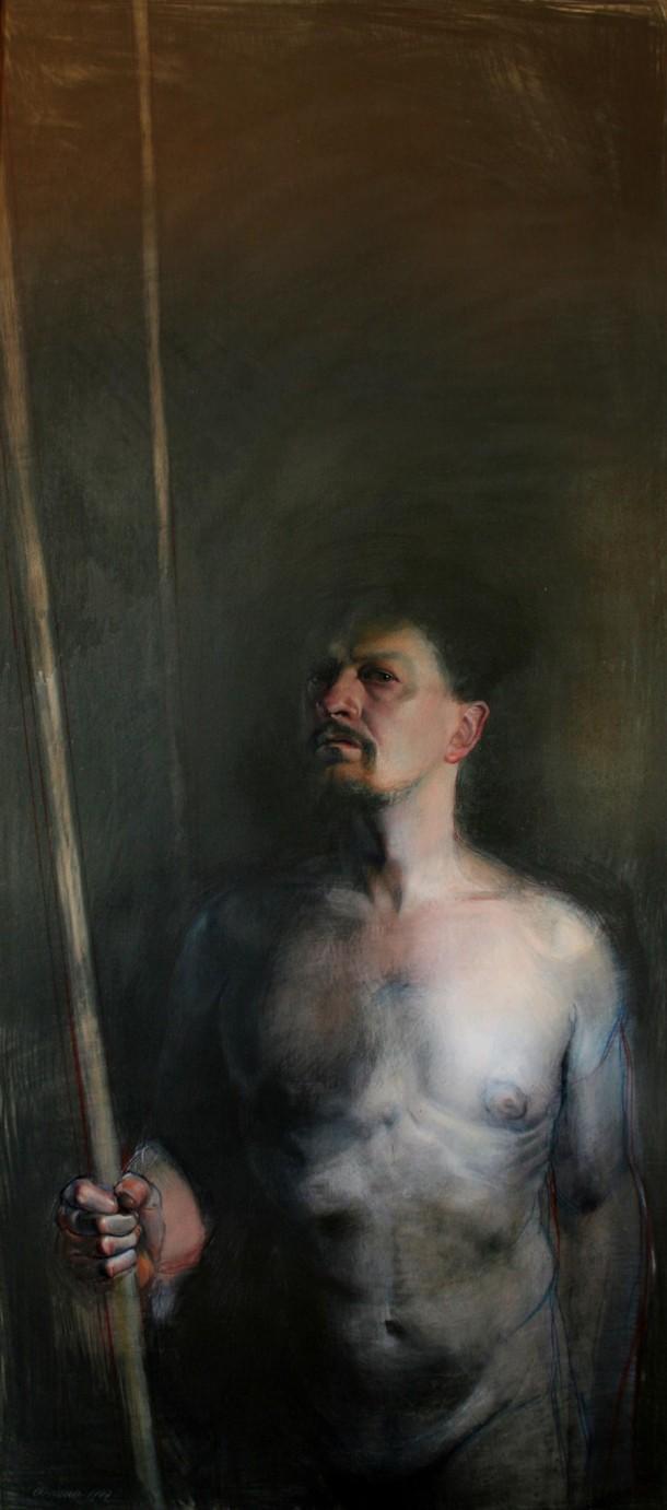 "DORIANO SCAZZOSI | ""Autorretrato"" (óleo sobre tela)"