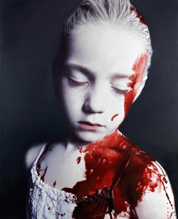 "GOTTFRIED HELNWEIN, 2011 | ""The Disasters of War 28"" (óleo e acrílica sobre tela) 201 x 163 cm)"