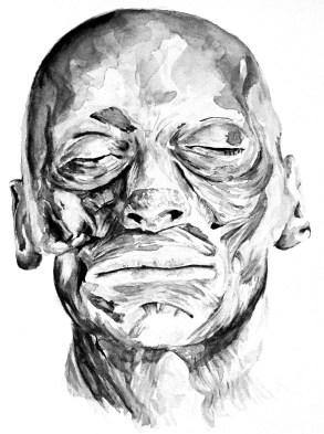 GUSTAVOT DIAZ |estudo em aquarela de Anatomia, (2010)