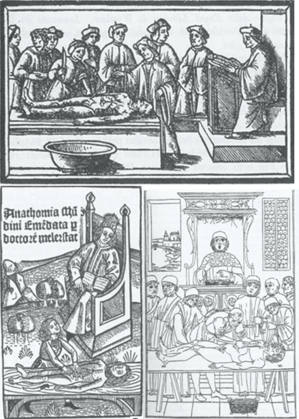 Gravuras medievais: sistema de cátedras acadêmicas
