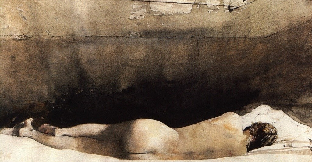 "ANDREW WYETH, sketch for the painting ""Barracoon"" (1976) 