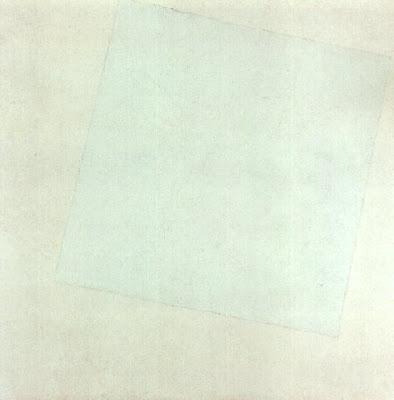 """KAZIMIRMALEVICH""""Quadrado branco sobre fundo branco"""" (1915)"""