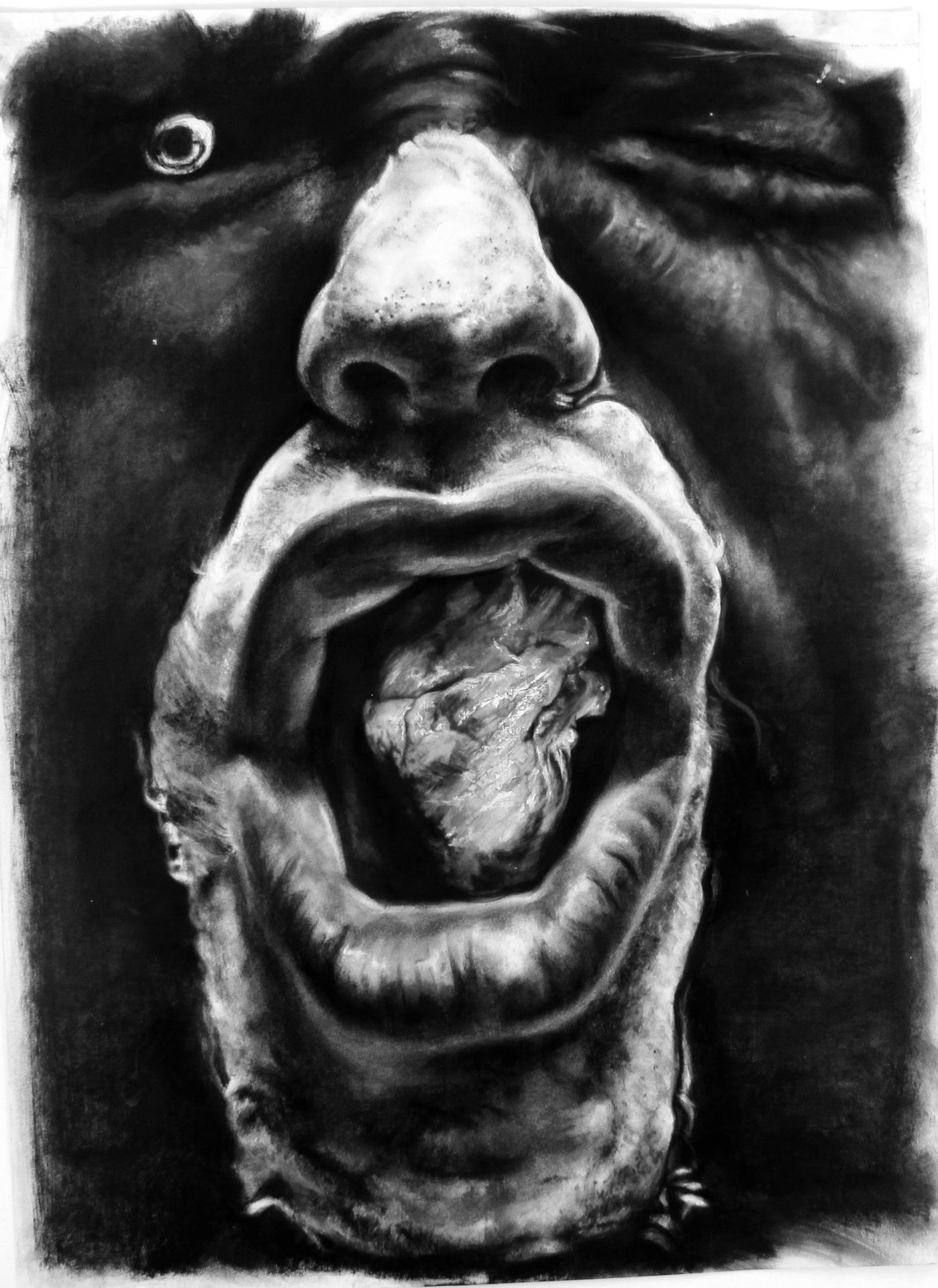 GUSTAVOT DIAZ, 2014 | da série DIZMETAFORIA, I (técnica mista sobre papel, 90x65cm)