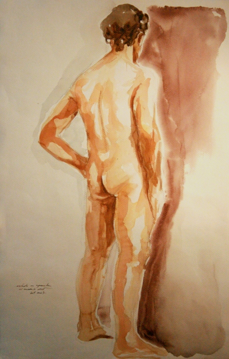 GUSTAVOT DIAZ, aquarela (estudo de modelo)