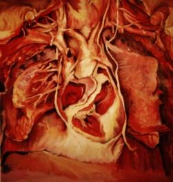 """GUSTAVOT DIAZ, """"Interiores"""" 2012   óleo sobre papel (50X50cm)"""