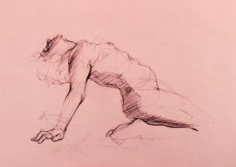 GUSTAVOT DIAZ (sketch de modelo vivo, 2016/17)