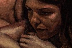 """GUSTAVOT DIAZ, 2009/2017   """"As Meninas (ou Autorretrato Dissecado)"""", da série EX TRADIÇÃO (óleo sobre tela, 100x70cm) EM PROCESSO"""