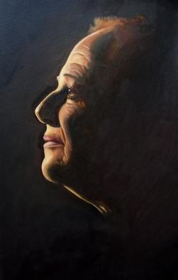 "GUSTAVOT DIAZ, ""Claudete Pereira Jorge"" 2011   óleo sobre papel (65X50cm)"