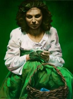 """GUSTAVOT DIAZ, """"Tama"""" 2008   óleo sobre tela (160x90cn)"""