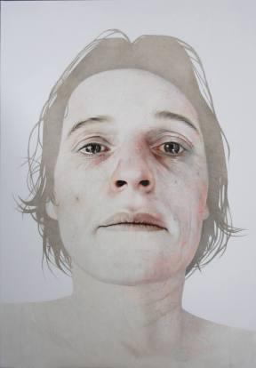 "ANNEMARIE BUSSCHER, 2011 |""Self Portrait XII"" (óleo sobre tela, 160x120 cm)"