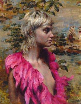 Pink Feathers 14x18, 8/24/17, 11:23 AM, 8C, 9660x11865 (165+1455), 125%, Custom, 1/15 s, R88.3, G63.7, B77.9