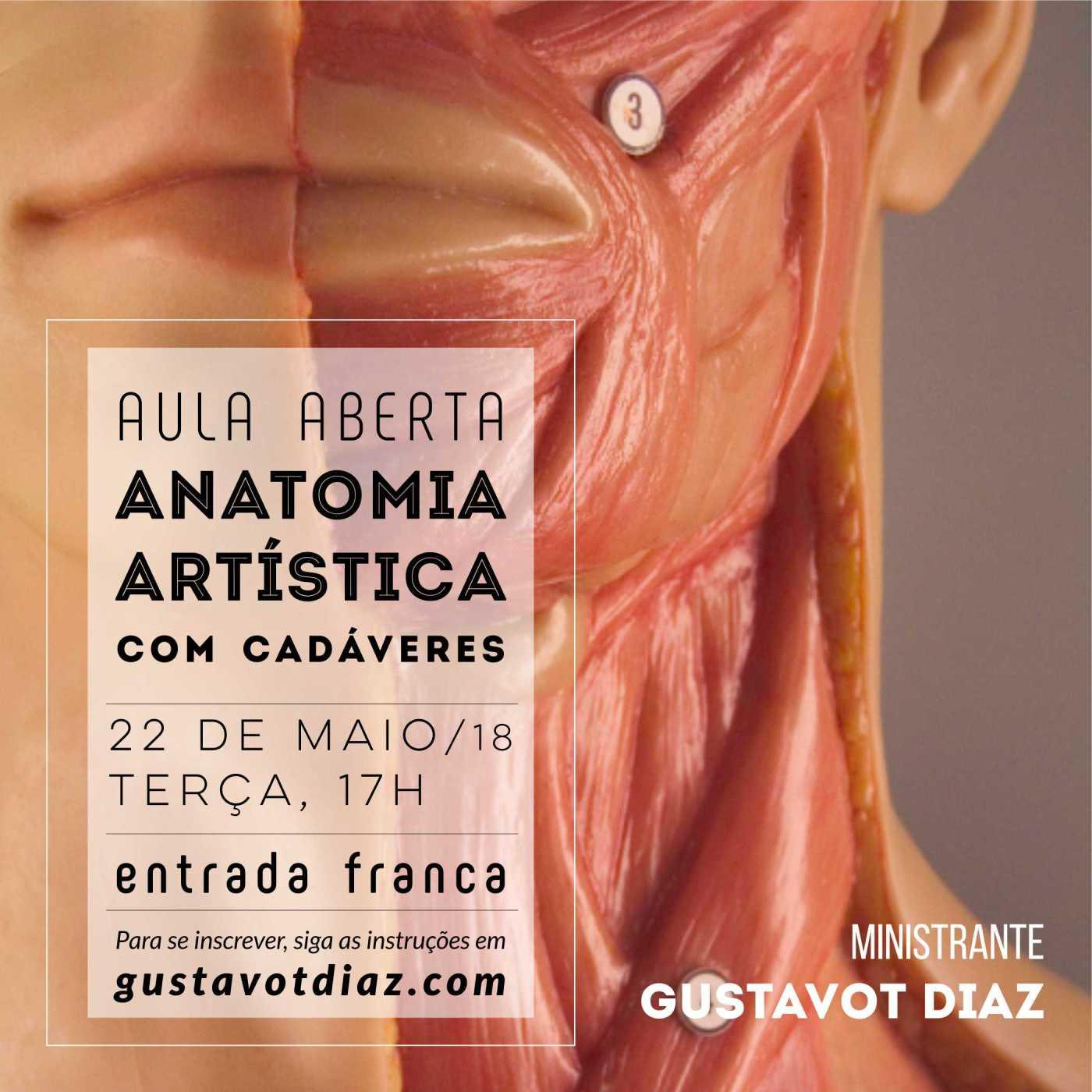 AULA GRATUITA DE ANATOMIA ARTÍSTICA COM CADÁVERES (22/05) – Gustavot ...