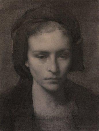 COLLEEN BARRY, estudo para o retrato de MJW | grafite e carvão sobre papel