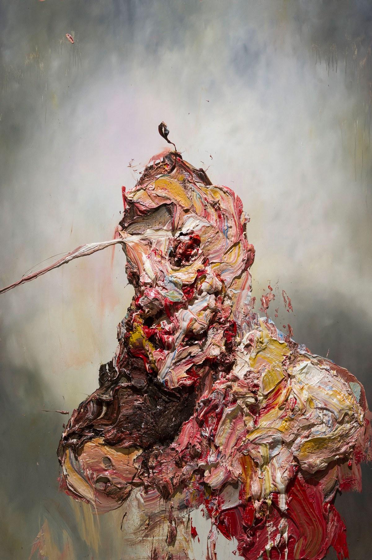 ANTONY MICALLEF, Raw Intent No. 4, 2016 | óleo sobre linho francês (132 x 112 cm)