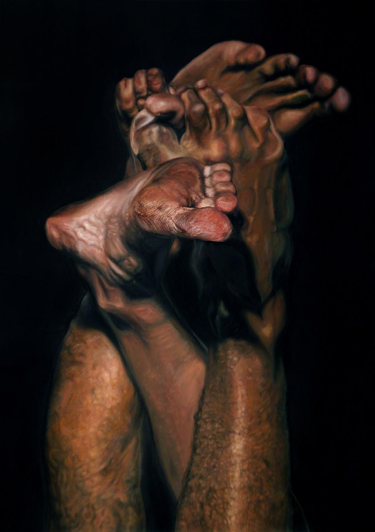 """LUIZ ESCAÑUELA, Murundu"""", 2018 (óleo sobre tela)"""