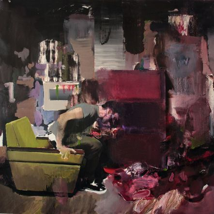 Adrian Ghenie The Fake Rothko 2010 oil on canvas 200 x 200 cm Credit: Photo by the artist/© Adrian Ghenie