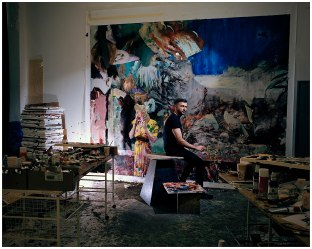 Portrait of Adrian Ghenie by Oliver Mark, Berlin 2014, Collection of the Bucovina Museum