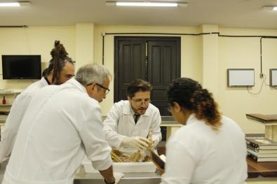 Aula aberta de Anatomia Artística com cadáveres ministrada pelo artista visual GUSTAVOT DIAZ (ICBS/UFRGS)